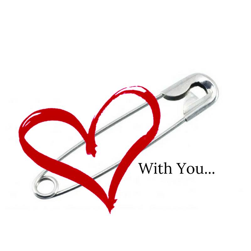 With You Safety Pin Heart