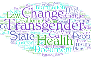 Transgender Rights Word Cloud